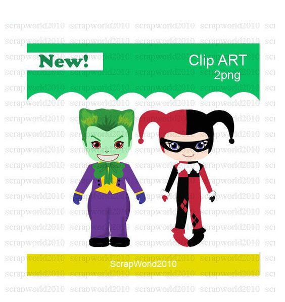 Harley quinn and joker clipart image transparent OMG...For my LoveBug... Joker and Harley Quinn clipart 2 png ETSY ... image transparent