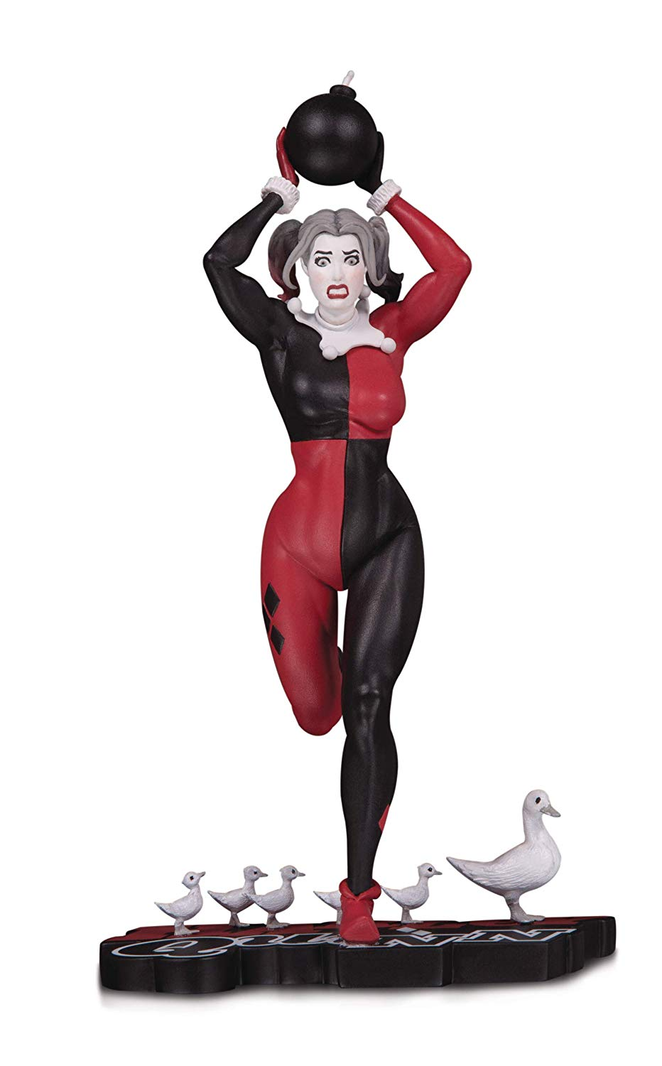 Harley quinn clipart black and white 2nd edition black and white download DC Collectibles Harley Quinn: Red, White & Black: Harley Quinn by Frank Cho  Statue, Multicolor black and white download