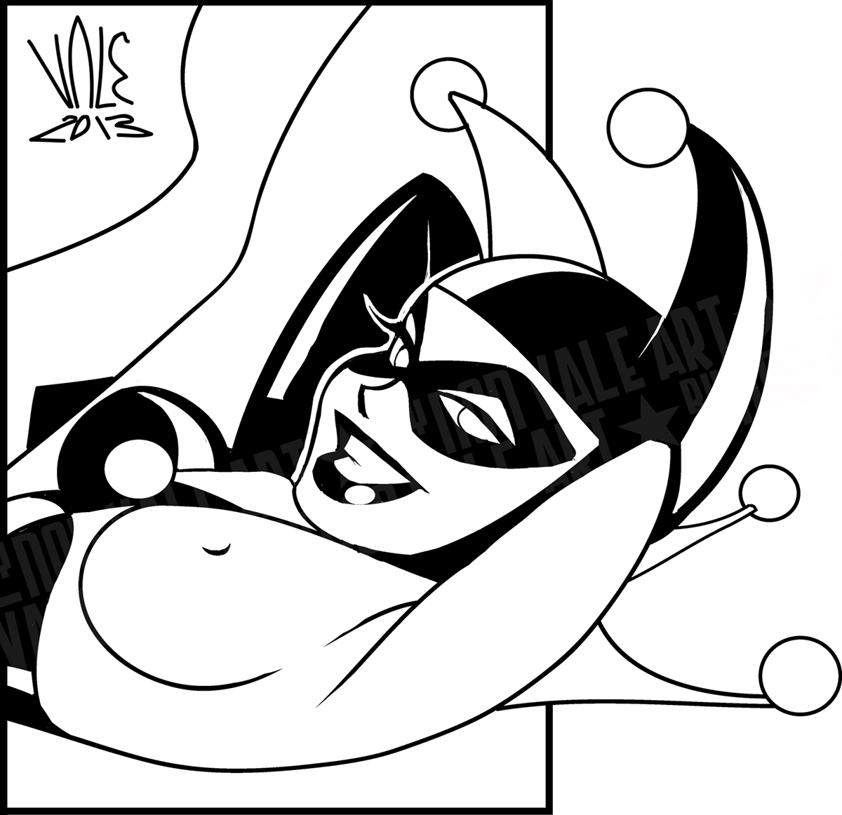 Harley quinn clipart black and white 2nd edition image library stock HARLEY QUINN in Bruce Timm\'s style on Behance image library stock