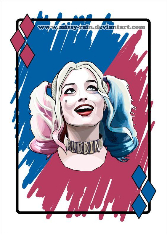 Harley quinn margot robbie clipart graphic library library Harley Quinn / Margot Robbie (Vector portrait) by Missy-Rain ... graphic library library