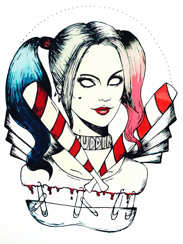 Harley quinn margot robbie clipart graphic library library Harley Quinn Margot Robbie Pic Drawing | Drawing Images graphic library library