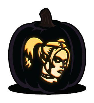 Harley quinn pumpkin clipart vector black and white download Harley Quinn | Bleach shirt stencils | Pinterest | Harley quinn vector black and white download