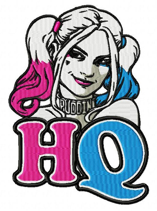 Harley quinn suicid squad clipart picture free library Suicide Squad Harley Quinn Embroidery Designs (3 szs) picture free library