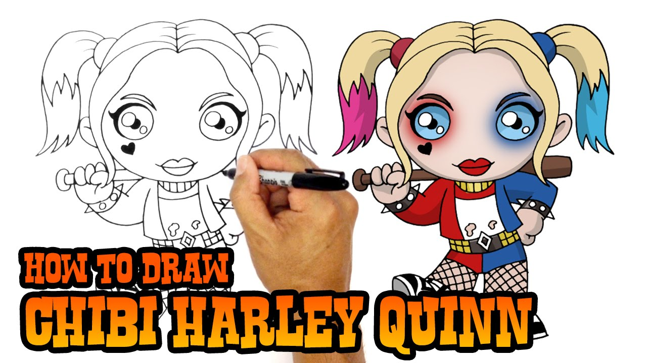 Harley quinn suicid squad clipart picture freeuse download How to Draw Harley Quinn | Suicide Squad - YouTube picture freeuse download