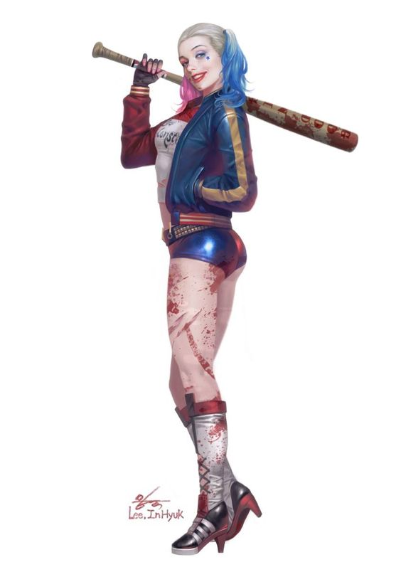 Harley quinn suicide squad clipart clipart transparent download Suicide Squad - Harley Quinn by In-Hyuk Lee   Geek Stuff ... clipart transparent download