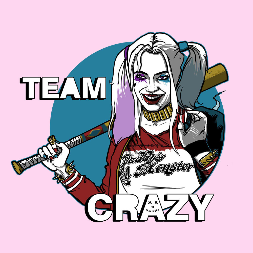 Harley quinn suicide squad clipart graphic transparent stock Team Crazy Harley Quinn Suicide Squad Men's Vest – Cloud City 7 graphic transparent stock