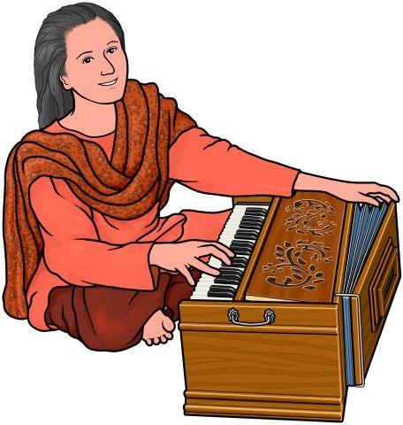 Harmoniam clipart royalty free Harmonium player / World musical instruments   Music   Indian ... royalty free