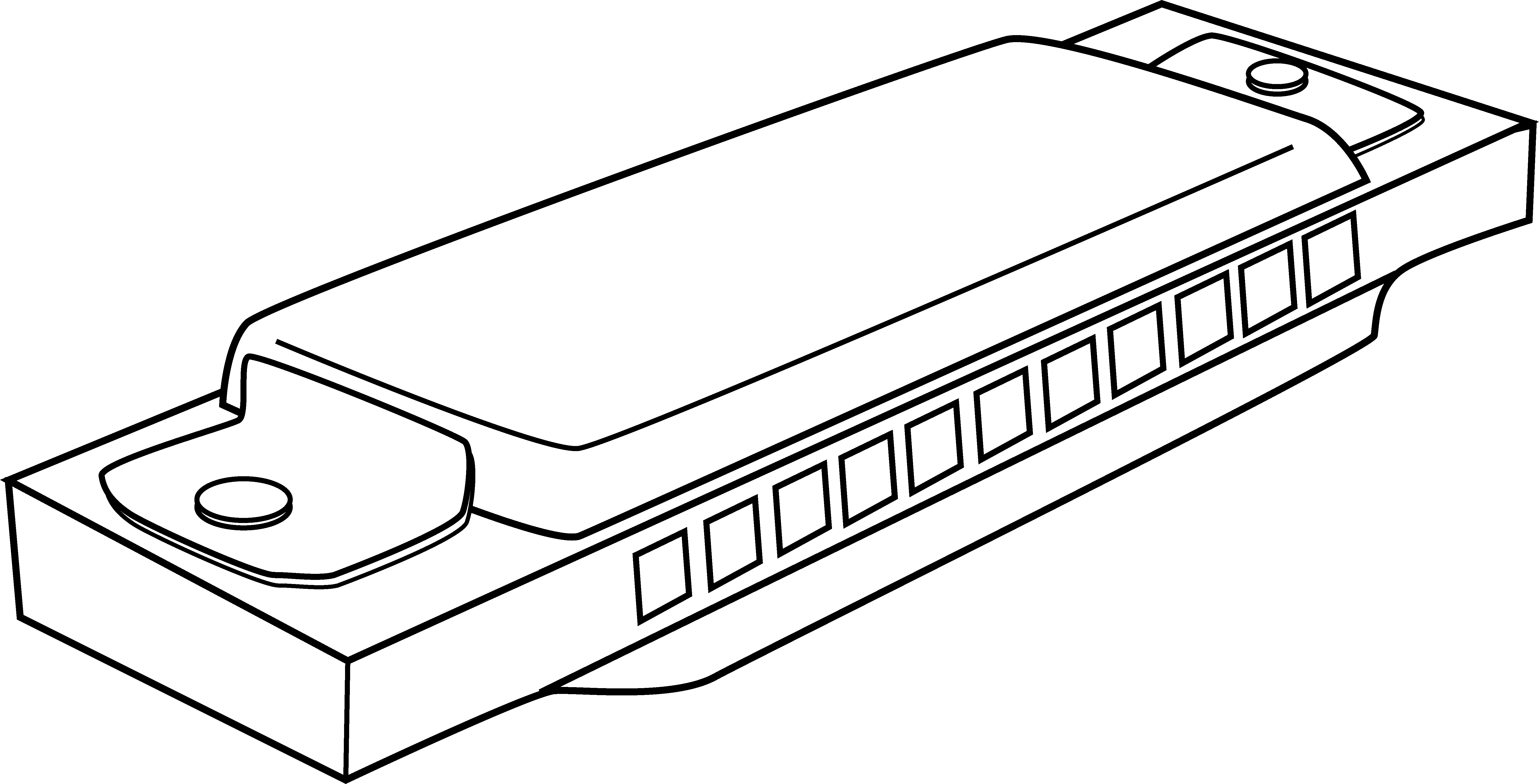 Harmonica clipart free picture black and white stock Harmonica Coloring Page - Free Clip Art picture black and white stock