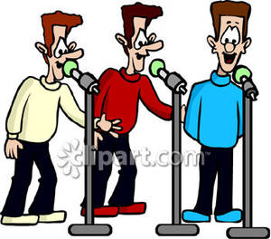 Harmonize clipart png Men Singing In Three Part Harmony - Royalty Free Clipart Picture png