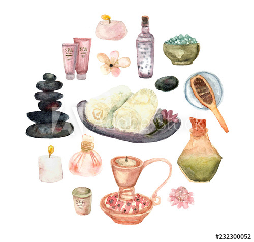 Harmonize clipart clipart transparent download set of spa products.Watercolor SPA Clipart - Collection of SPA and ... clipart transparent download