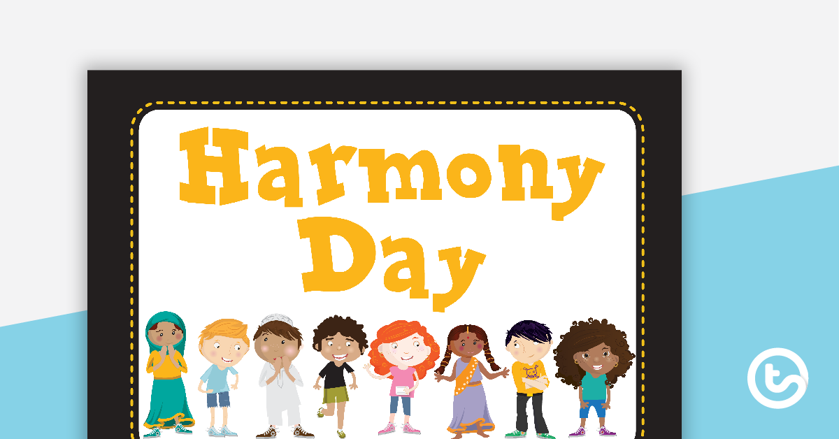Harmony day clipart picture free download Harmony Day Word Wall Vocabulary Teaching Resource | Teach Starter picture free download