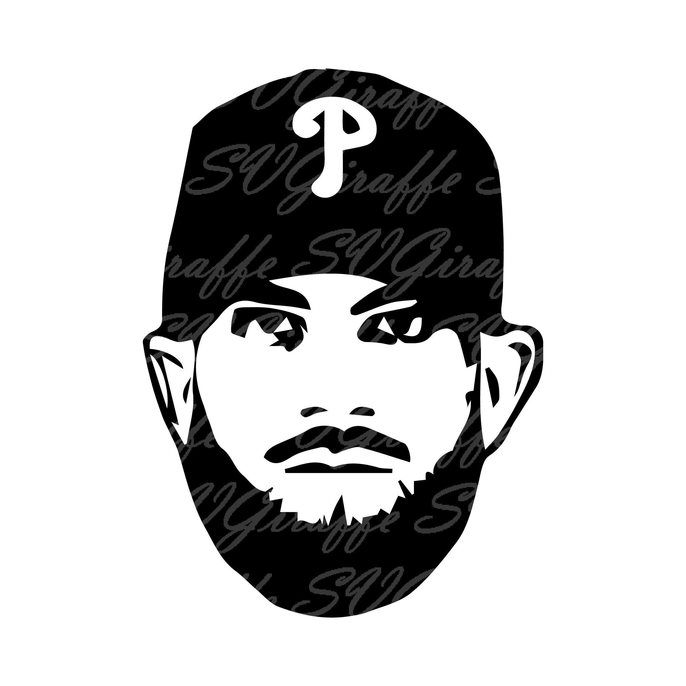 Harper clipart graphic royalty free library Bryce Harper SVG DXF PNG pdf jpg eps files | Philadelphia Baseball ... graphic royalty free library