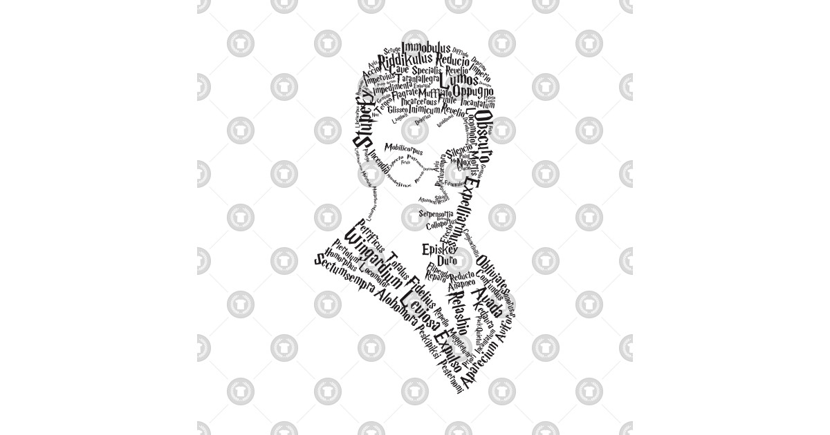 Harry potter alohomora clipart black and white library HARRY POTTER SILHOUETTE SPELL by averilshop library