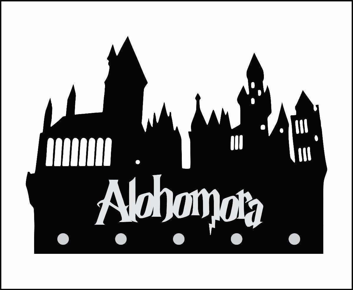Harry potter alohomora clipart black and white jpg Porta Chaves Alohomora - Harry Potter jpg