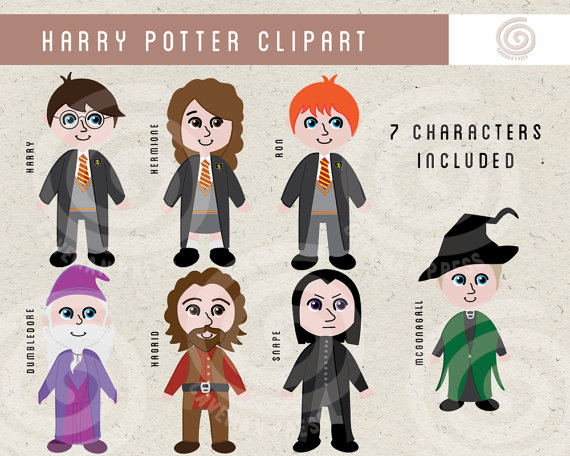 Harry potter character clipart clipart royalty free library Harry Potter Clipart Wizard and Witch Clip Art Hermione clipart royalty free library