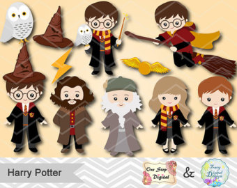 Harry potter character clipart banner transparent Harry potter clipart | Etsy banner transparent
