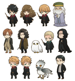 Harry potter character clipart download Harry Potter characters re-imagined in adorable new designs ... download
