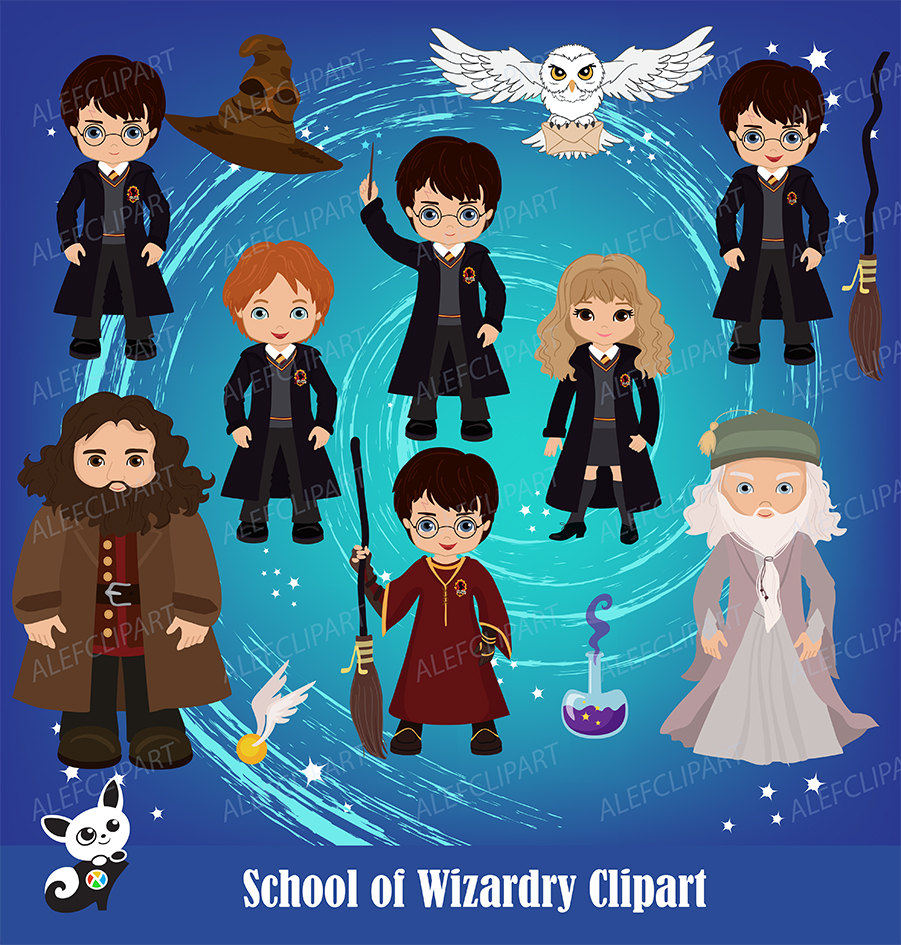 Harry potter character clipart clip art black and white download Harry potter character clipart - ClipartFest clip art black and white download