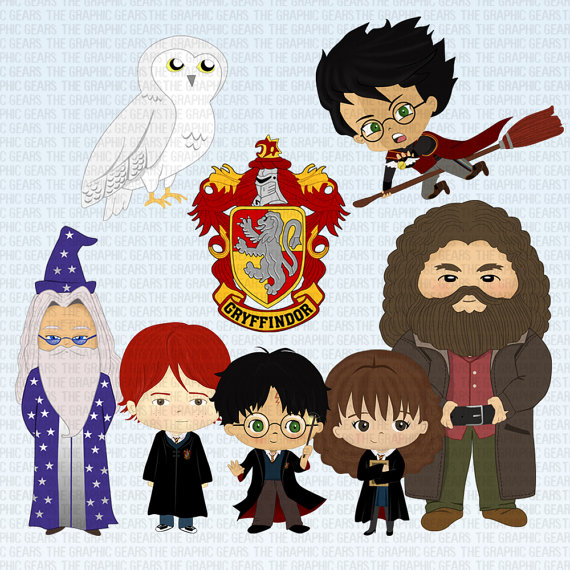 Harry potter character clipart png free stock Harry Potter Clip Art Set Harry Potter Characters Clipart - Ron ... png free stock