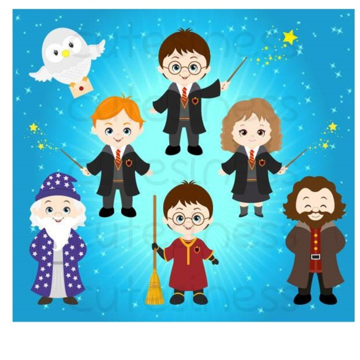 Harry potter clipart crianca graphic free stock Kit Digital Harry Potter Clipart graphic free stock