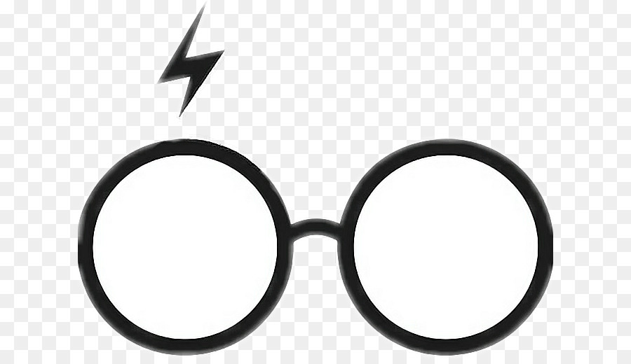 Harry potter glasses and scar clipart
