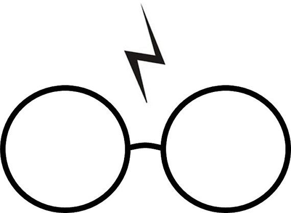 Harry potter glasses and scar clipart jpg black and white library Harry Potter Glasses and Scar Temporary by temporarytattooyou ... jpg black and white library