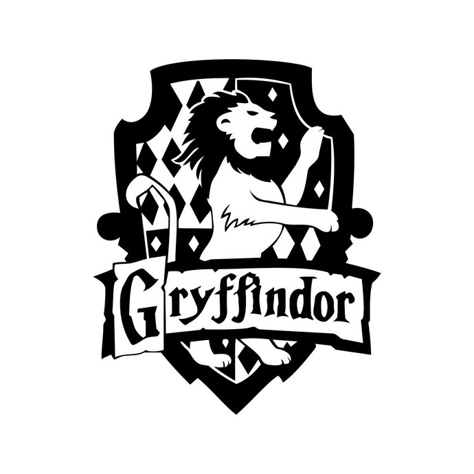 Harry potter gryffindor clipart graphic royalty free Gryffindor Harry Potter House Badge Crest graphics design SVG DXF EPS Png  Cdr Ai Pdf Vector Art Clipart instant Digital Cut Print File Decal graphic royalty free