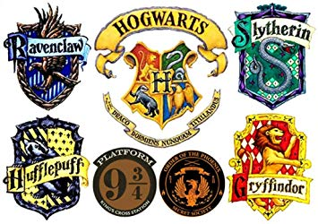 Harry potter gryffindor clipart jpg royalty free Amazon.com : Harry Potter Hogwarts Set of 7 Temporary Tattoos : Beauty jpg royalty free