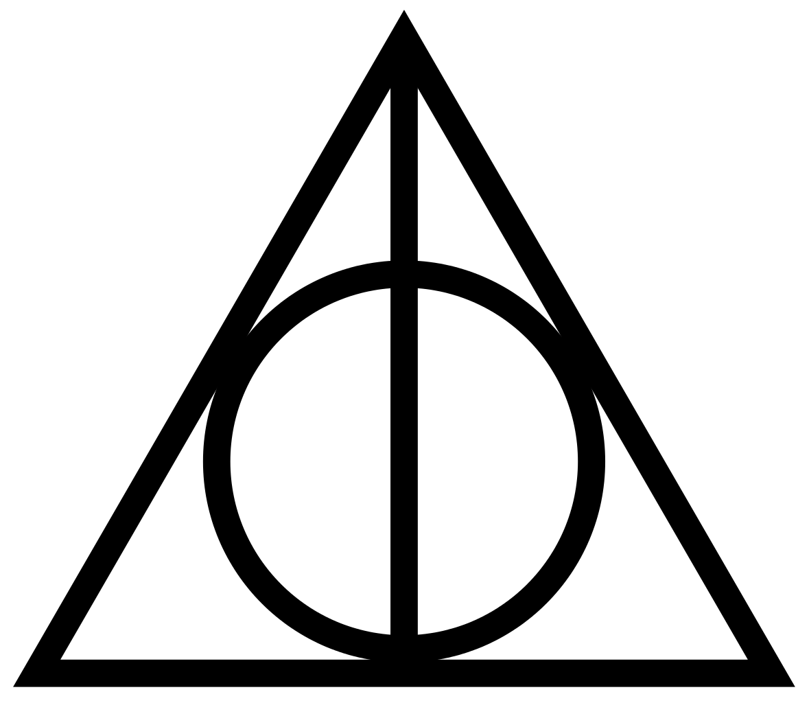 Harry potter house symbols clipart graphic free download 1179px-Deathly_Hallows_Sign.svg.png (1179×1024) | Favorite Logo ... graphic free download