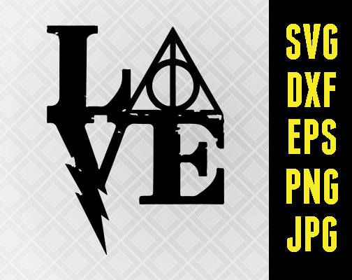 Harry potter love clipart jpg transparent Harry Potter SVG Iron On Decal Cutting File / Clipart in Svg | HP ... jpg transparent
