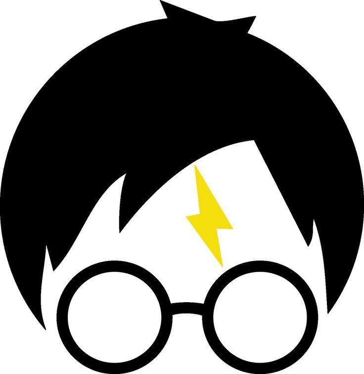 Harry potter silhouette clipart clip black and white stock Pin by Danny Lara on a stenciled idea with cups & paint | Harry ... clip black and white stock