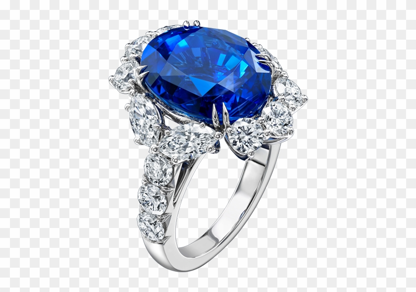 Harry winston clipart royalty free Blue Sapphire Wedding Rings Harry Winston, HD Png Download ... royalty free