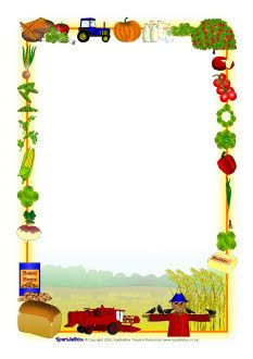 Harvest border clipart clipart freeuse library Harvest-themed A4 page borders (SB2855) - SparkleBox | RÁMEČKY ... clipart freeuse library