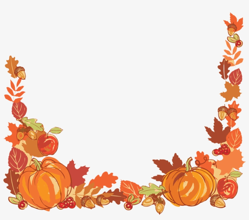 Harvest border clipart vector library library Thanksgiving Autumn Leaf Color Clip Art - Thanksgiving Harvest Png ... vector library library