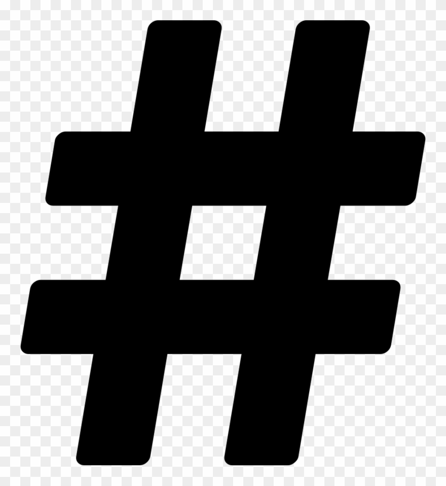 Hashtag clipart picture transparent library Icons Media Hashtag Number Sign Computer Social - Hashtag Icon Png ... picture transparent library