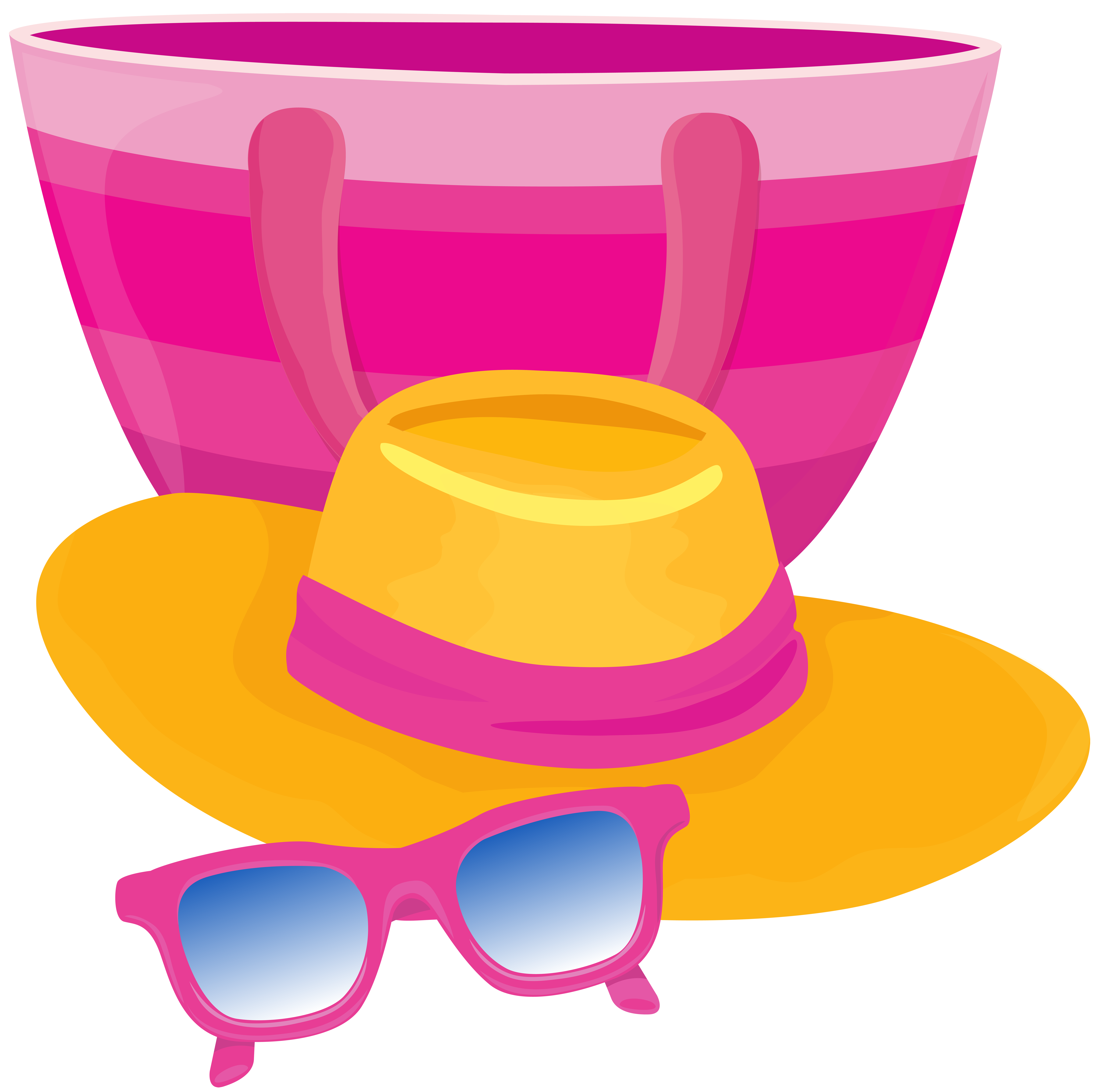 Hat and sunglasses clipart freeuse library Beach Bag Hat and Glasses Transparent PNG Image | Gallery ... freeuse library