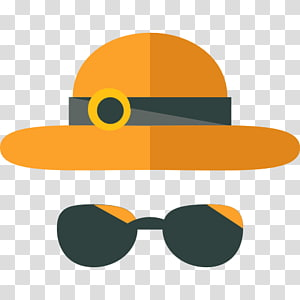 Hat and sunglasses clipart png library Black hat, black eyeglasses, and black mustache illustration ... png library