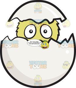 Hatched egg clipart clip free library Newborn Chick Peeking Out Of A Cracked And Hatched Egg Emoji clip free library