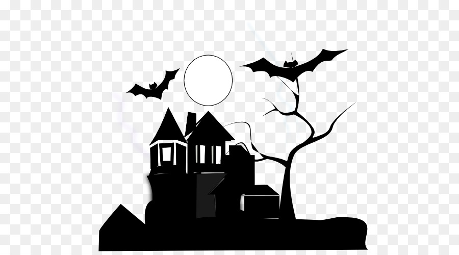 Haunted castle clipart black and white banner royalty free download Halloween Ghost Drawing png download - 555*500 - Free Transparent ... banner royalty free download