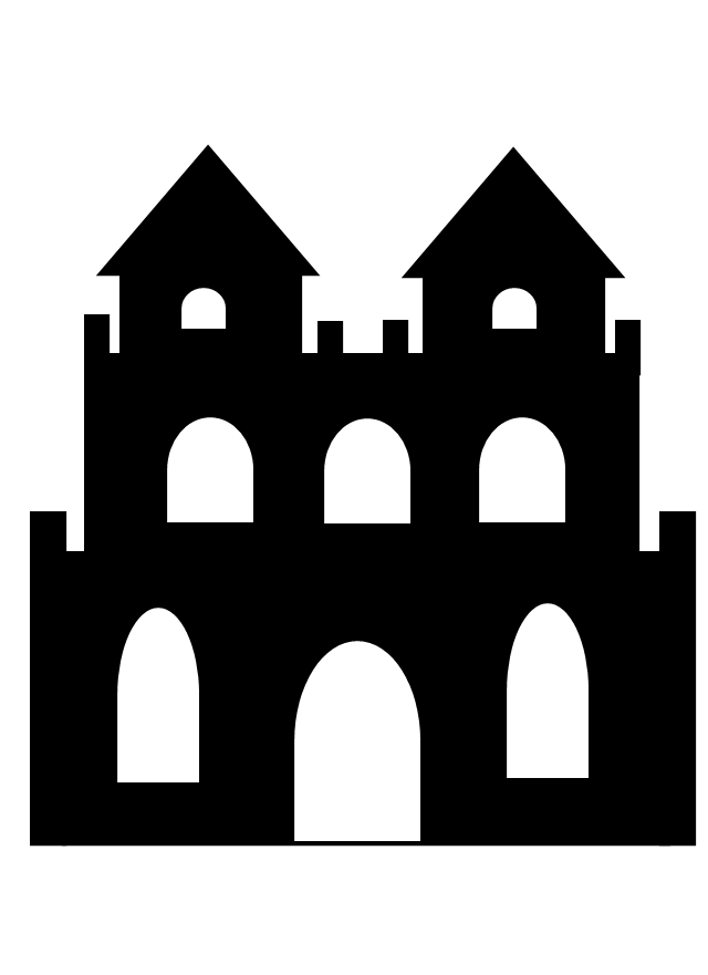 Haunted castle clipart black and white banner royalty free Haunted Castle Clipart Black And White banner royalty free