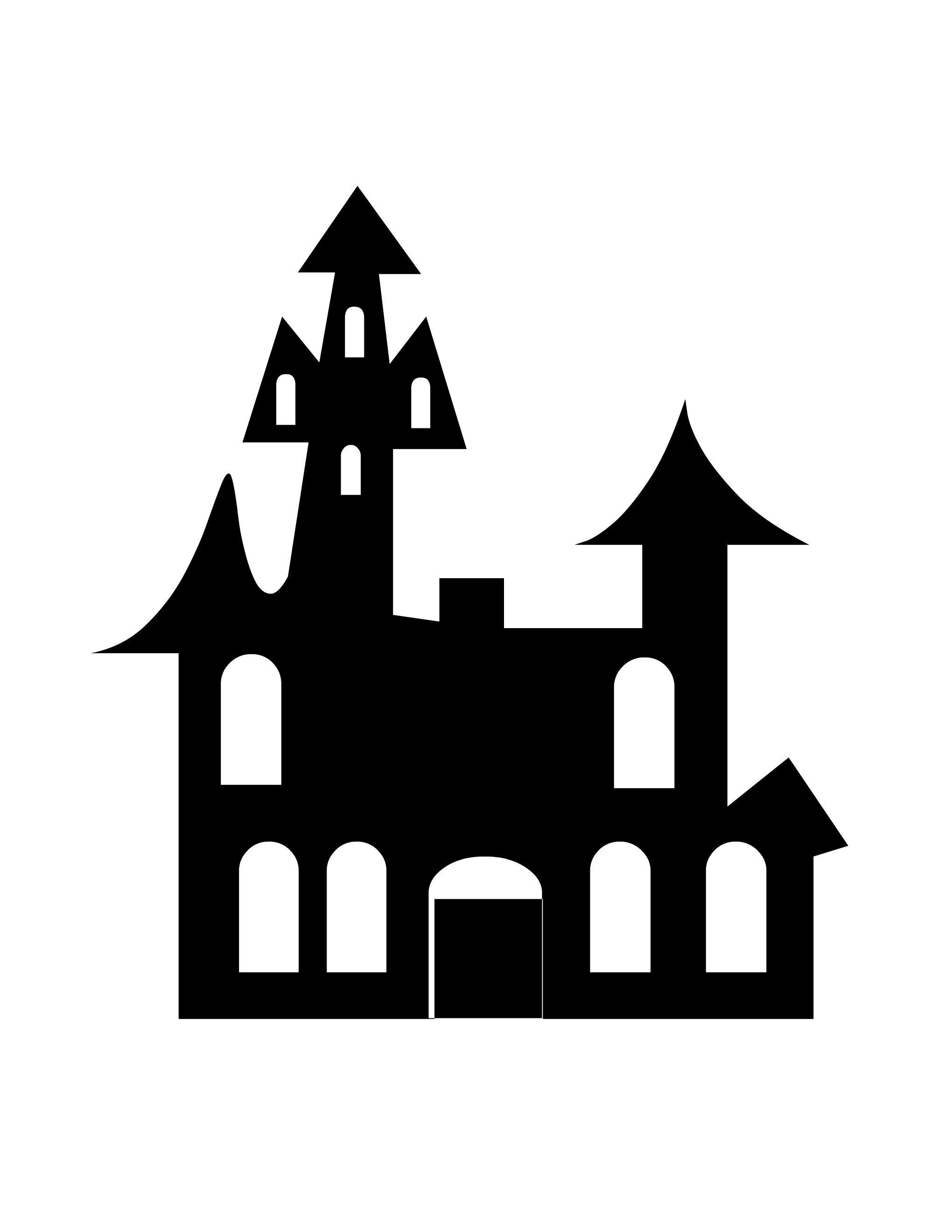Haunted castle clipart black and white clipart royalty free stock Haunted Castle Clipart Black And White clipart royalty free stock