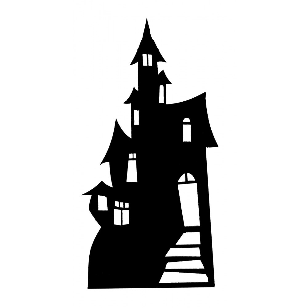 Haunted house vector clipart vector library stock Haunted House Vector - Making-The-Web.com vector library stock