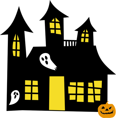 Haunted house vector clipart graphic transparent download Haunted house drawing | Public domain vectors graphic transparent download