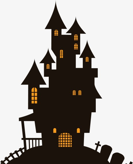 Haunted house vector clipart jpg black and white stock Haunted House Vector Clipart | Free download best Haunted House ... jpg black and white stock