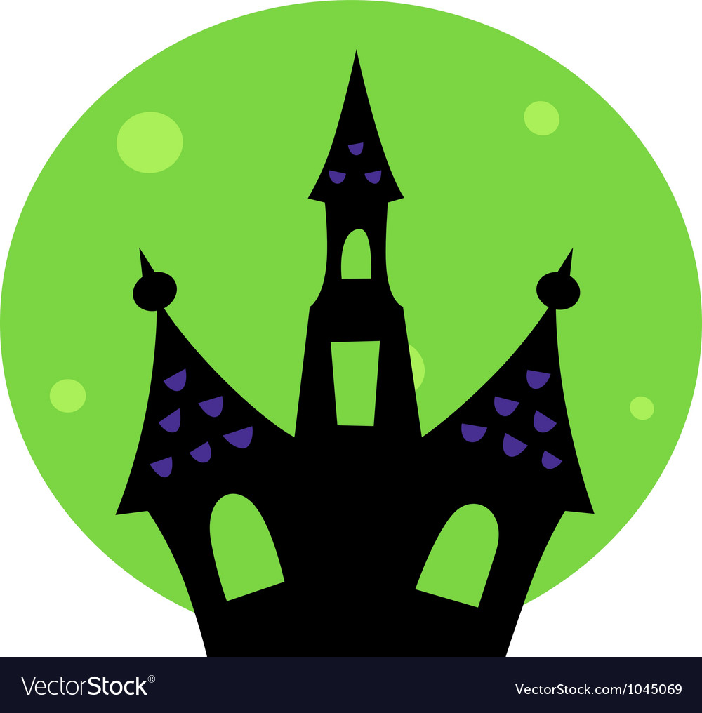 Haunted house vector clipart vector royalty free library Halloween Haunted house vector royalty free library