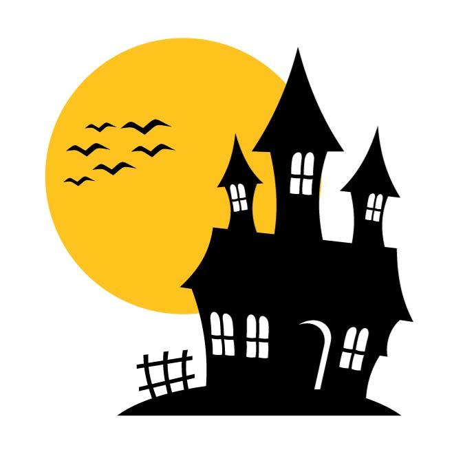 Haunted house vector clipart jpg download HAUNTED HOUSE VECTOR ILLUSTRATION - Free vector image in AI and EPS ... jpg download