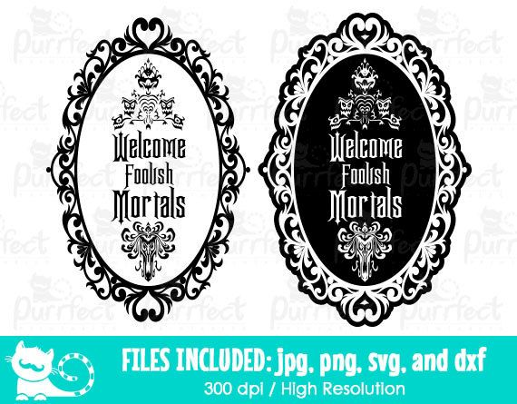 Haunted mansion clipart disney clip transparent download Welcome Foolish Mortals SVG, Disney Haunted Mansion SVG, Disney ... clip transparent download