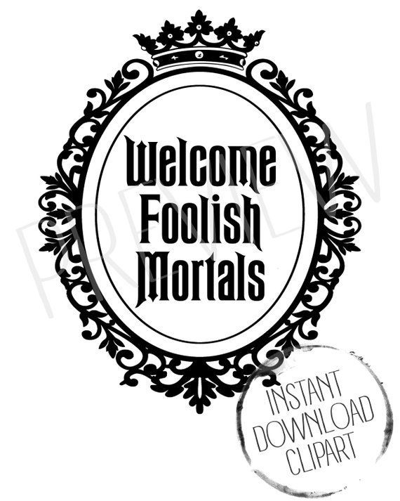 Haunted mansion clipart disney jpg freeuse stock Welcome Foolish Mortals Haunted Clipart | All-Time Best Pins ... jpg freeuse stock