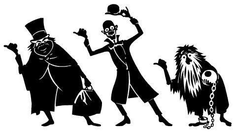 Haunted mansion ghosts on disneyland ride vehicles clipart jpg free download Disney Haunted Mansion Clipart | ºoº Disney Clipart ºoº ... jpg free download