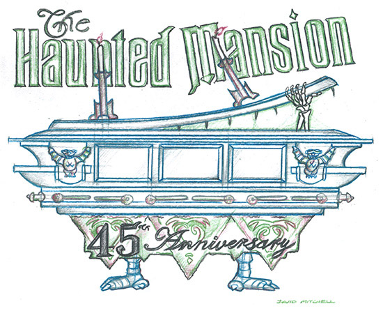 Haunted mansion ghosts on disneyland ride vehicles clipart clip Vote Now to Select a Disney Parks Blog Wallpaper Celebrating 45 ... clip